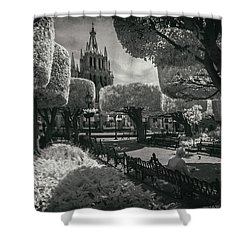 Shower Curtain featuring the photograph el Jardin by Sean Foster