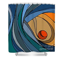 el MariAbelon blue Shower Curtain