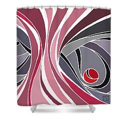 el MariAbelon red Shower Curtain