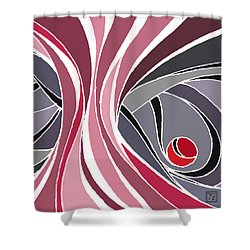 el MariAbelon red Shower Curtain