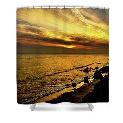 El Matador Beach Sunset Shower Curtain