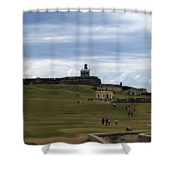 El Morro Shower Curtain by Lois Lepisto