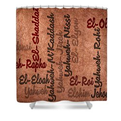 Shower Curtain featuring the digital art El-olam by Angelina Vick