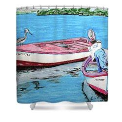 El Pescador De Guanica Shower Curtain by Luis F Rodriguez