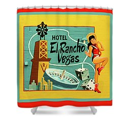 Shower Curtain featuring the photograph El Rancho by Jeff Burgess