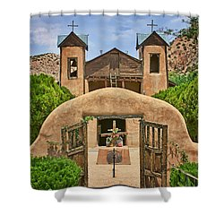 El Santuario De Chimayo #2 Shower Curtain by Nikolyn McDonald