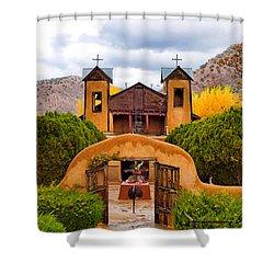El Santuario De Chimayo Study 4 Shower Curtain