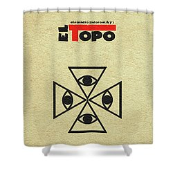 Shower Curtain featuring the digital art El Topo by Ayse Deniz
