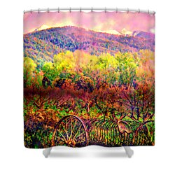 El Valle June Hay Days Nostalgia II Shower Curtain