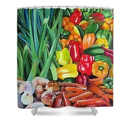 El Valle Market Shower Curtain