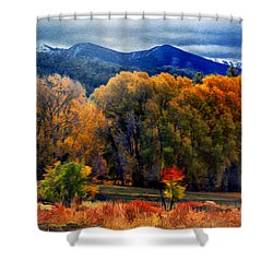 El Valle November Pastures Shower Curtain