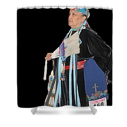 Elder Dancer Shower Curtain