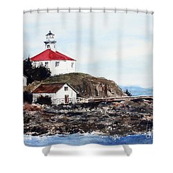 Eldred Rock Lighthouse Shower Curtain