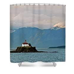 Eldred Rock Lighthouse Skagway Shower Curtain