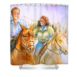Eleanor And George Shower Curtain