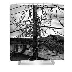 Up Nepa Electricity Pole Shower Curtain
