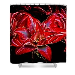 Electric Amaryillis Shower Curtain by Darleen Stry