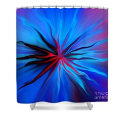 Electric Blue 2 Shower Curtain
