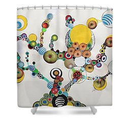 Electric Bonsai Shower Curtain
