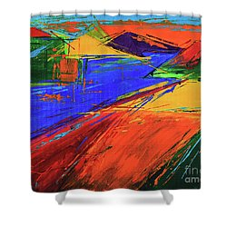 Electric Color Shower Curtain