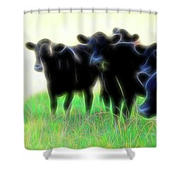 Electric Cows Shower Curtain