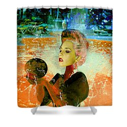 Electric Cyborg  Shower Curtain by Matthew Lacey