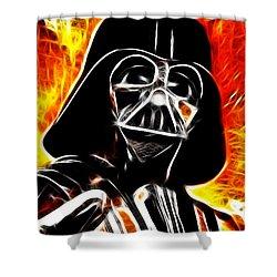 Electric Darth Vader Shower Curtain by Paul Van Scott
