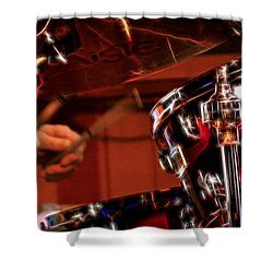Shower Curtain featuring the photograph Electric Drums by Cameron Wood