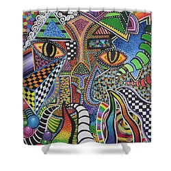 Electric Eyes Shower Curtain