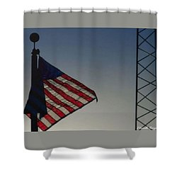 Electric Flag Shower Curtain