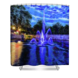 Shower Curtain featuring the photograph Electric Fountain  by Scott Carruthers