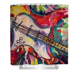 Electric Fusion  Shower Curtain