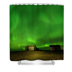 Electric Green Skies Shower Curtain