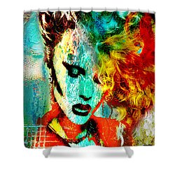 Electric Hair Shower Curtain