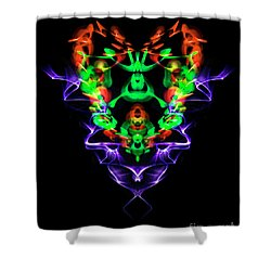 Electric Heart Shower Curtain