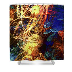 Electric Jellies Shower Curtain by Robert Ball