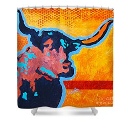 Electric Longhorn Shower Curtain