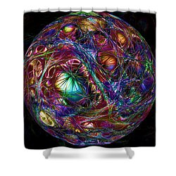 Electric Neon Abstract Shower Curtain