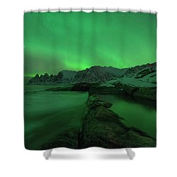 Shower Curtain featuring the photograph Electric Night by Alex Lapidus