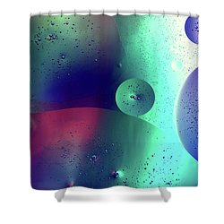 Shower Curtain featuring the photograph Electric Oil Droplets Number One by John Williams