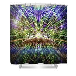 Electric Owl  Shower Curtain