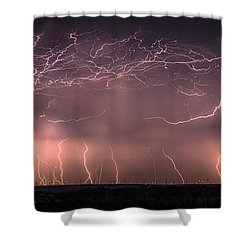 Electric Panoramic V Shower Curtain