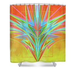 Electric Personality  Shower Curtain by Alan Johnson