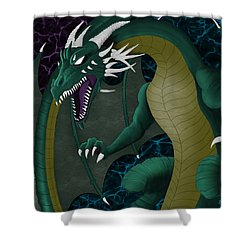 Electric Portal Dragon Shower Curtain