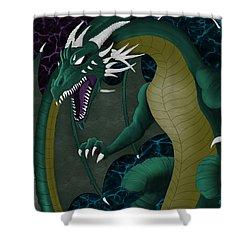 Electric Portal Dragon Shower Curtain