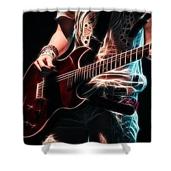 Shower Curtain featuring the photograph Electric Rock by Cameron Wood