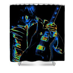 Electric Scholz Shower Curtain by Ben Upham III
