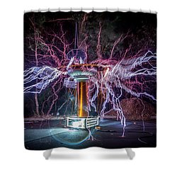 Electric Spider Shower Curtain