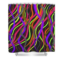 Electric Squiggles Shower Curtain