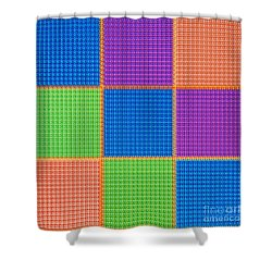 Electric Tartan Shower Curtain
